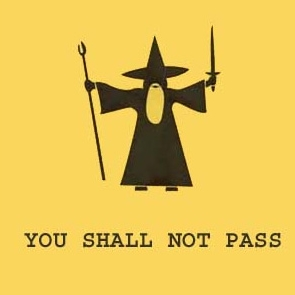 "Gandalf - ""You shall not pass!!"""